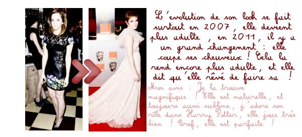 Le look de Emma Watson ... Par Eva