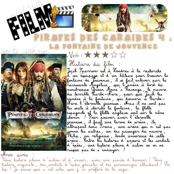 Article Cinéma - Pirates des Caraïbes 4 : La fontaine de jouvence.