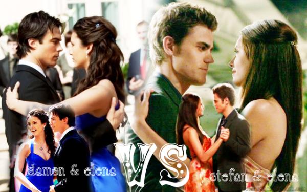 Sondage : Quel couple préférez-vous ? Damon & Elena VS Stefan & Elena.