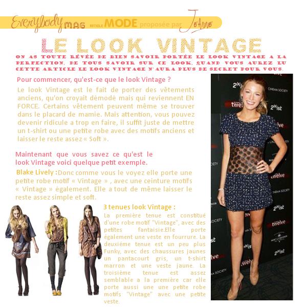 Article Mode proposé et réalisé par Jeanne.