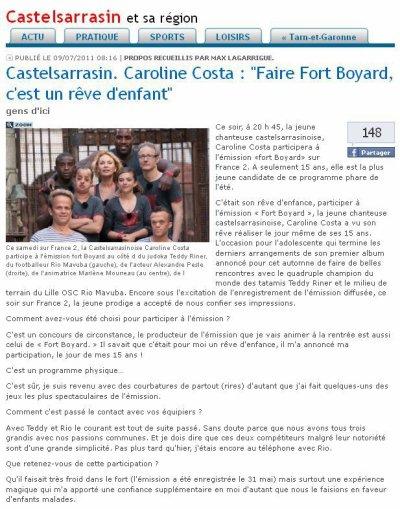 FORT BOYARD 2011 - Emission du 9 juillet 2011 Avec Caroline Costa