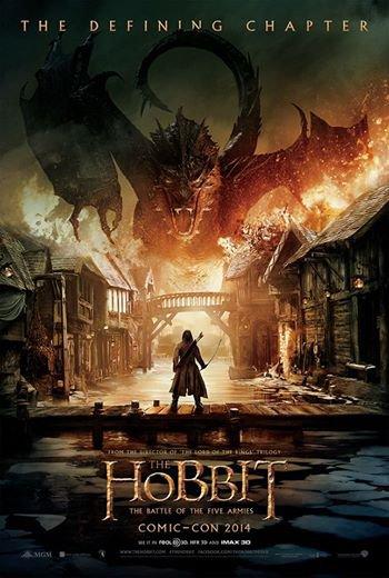 l'affiche du film le hobbit la batailles des cinq armées