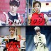 Moi, Jimin, Taehyung et Jungkook en robe