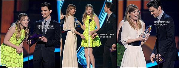 ____ 09.01.13 : Matt, souriant, était présent aux People's Choice Awards qui se déroulaient à Los Angeles. FBI : Duo très spécial était nominé dans une catégorie mais n'a pas gagné. / Je continue de rattraper son actualité. ____