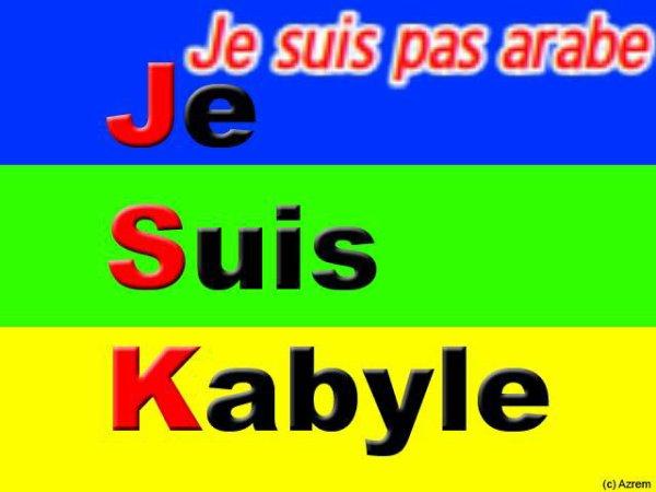 je suis algerienne m j suis pas arabe j suis kabyle é berber