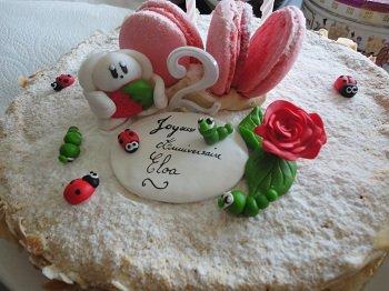résultat des créations sur le gâteau
