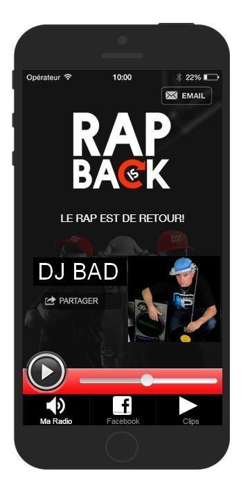 DJ BAD CE SOIR EN LIVE DE 21H-22H SUR RAPISBACK