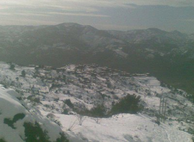 ma terre natale sous la neige
