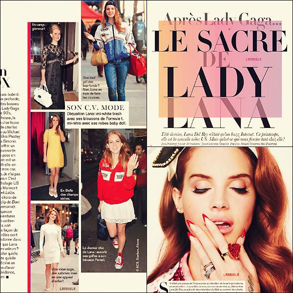 Lana fait la couverture dumagazine«Glamour »français pour le mois de mai !