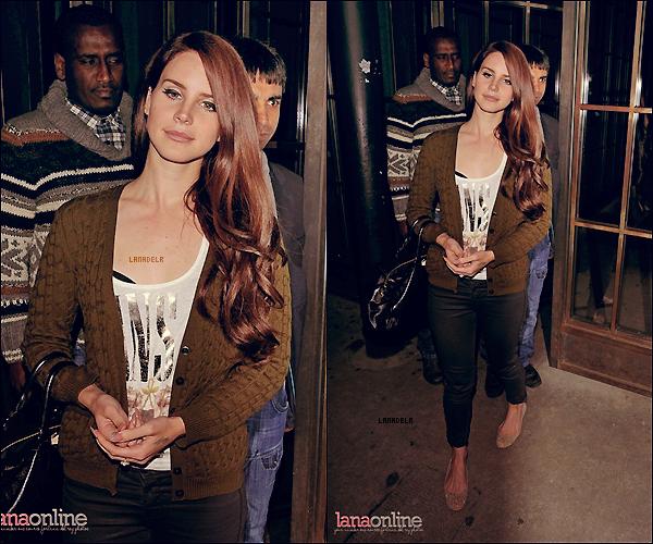 10/04/2012 ▪  Lana avait un concert privée a Londres. Regardons ensemble le déroulement de la soirée.