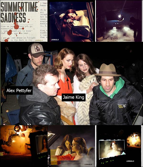 """Lana travail sur son prochain clip """"Summertime Sadness"""". Tu penses quoi des photos ?"""