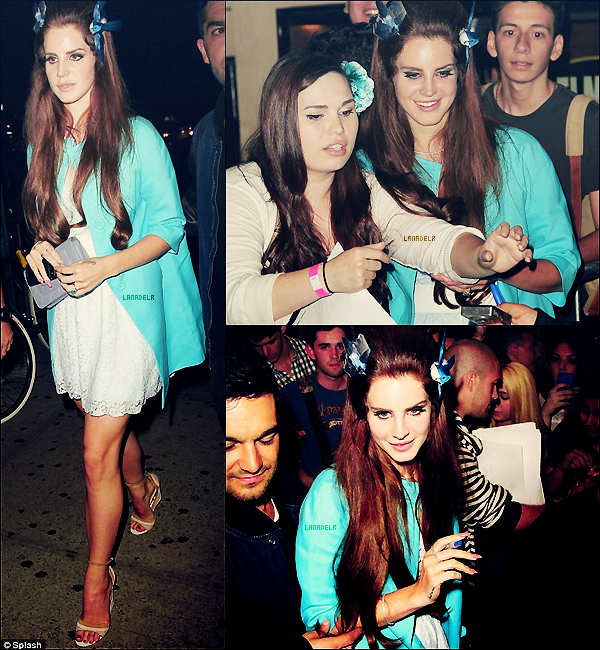 """07/06/2012 ▪ Lana a effectué un concert au """"Irving Plaza"""" à NY :"""