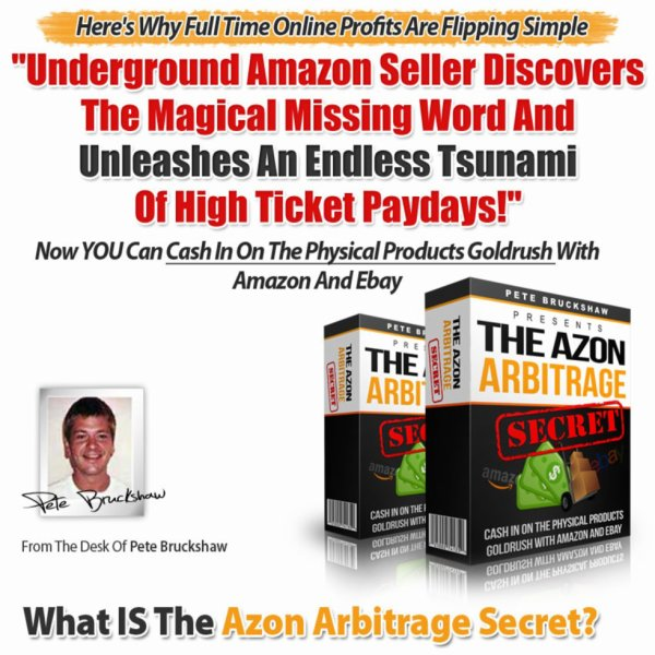 The Azon Arbitrage Secret review & huge +100 bonus items
