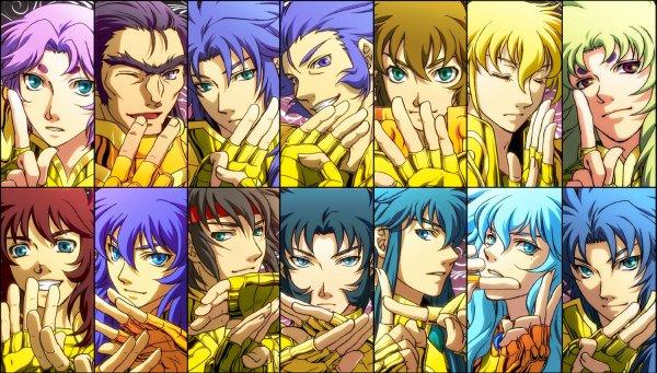 Voici tous les chevaliers d'or : dites lequel vos preferez :)