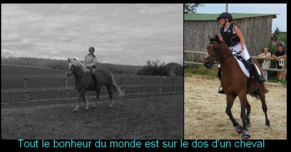 Tout le bonheur du monde est sur le dos d'un cheval ♥