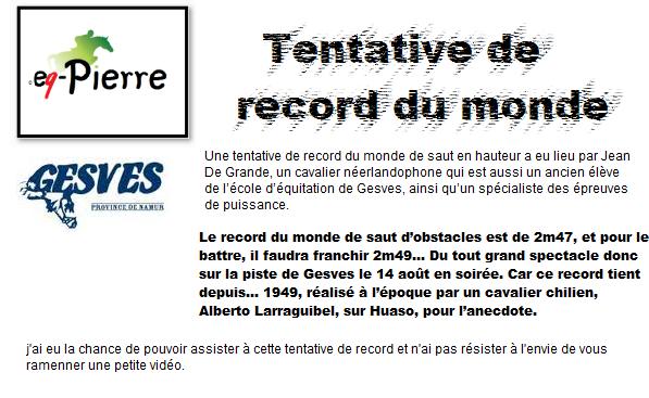 Gesves - tentative de record du monde de puissance