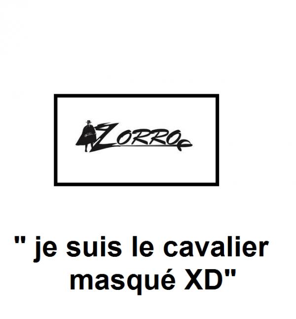 Je suis le cavalier masqué XD