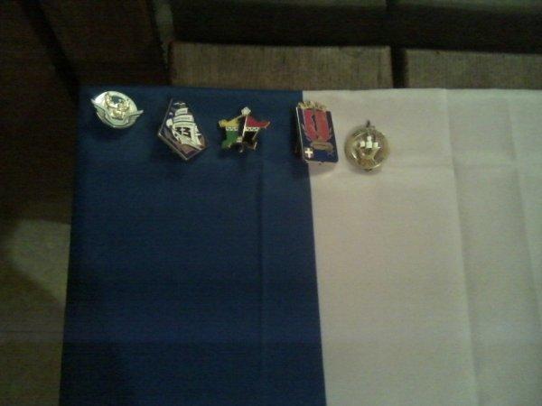 ma petit collection de pucelle et insigne militaire