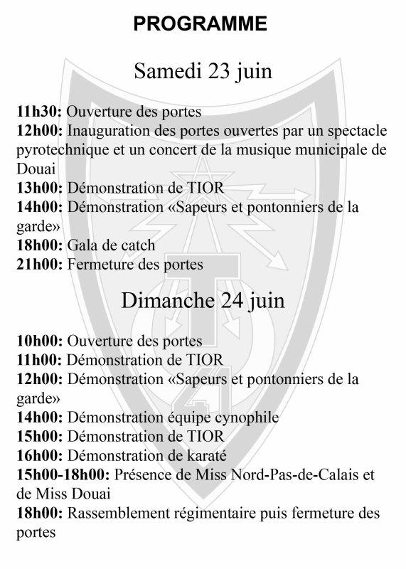 porte ouverte de la caserne de Douai du 41 RT