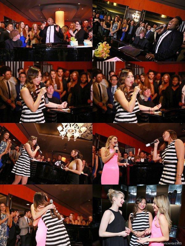 """Le cast de Glee assistant à la """"the Kindred Foundation for Adoption's Inaugural Fundraiser"""" organisée par Jenna."""