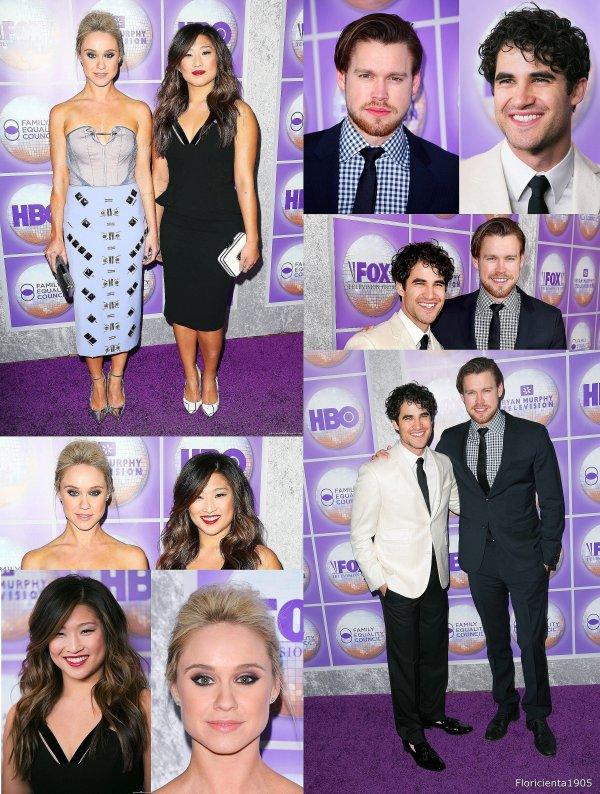 """Le cast de Glee à l'évènement """"the Family Equality Council's 2015"""" à Los Angeles"""