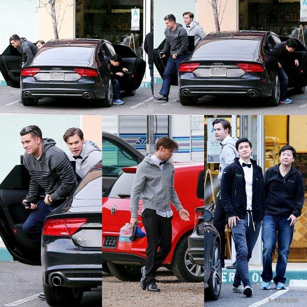 Le cast de Glee ont été aperçu sur le set de Glee