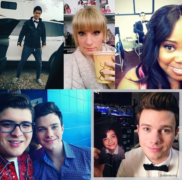 Photo personnelle du cast de Glee