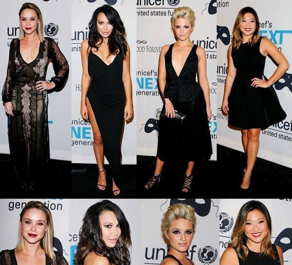 Le cast de Glee a un bal masqué Black & White organisé par UNICEF Dia de los Muertos à Los Angeles