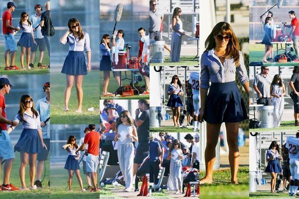 Le cast de Glee sur le set.