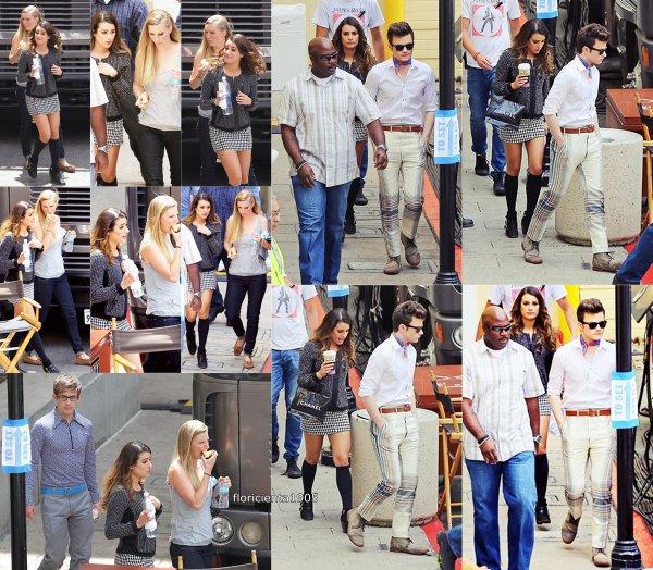 Le cast de glee tourner le dernier épisode de la saison 5 l'épisode 20