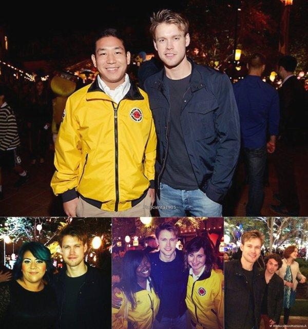 Kevin et Chord sur le set de Glee + Chord