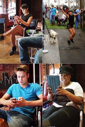 Chord,Amber, Darren et Lea ont répondu aux tweets d'internautes