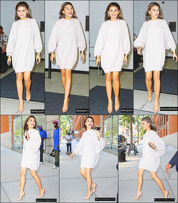 _ 16/06/2014 - Zendaya C. a été vue quittant les studios de 106 & Park à New York .-