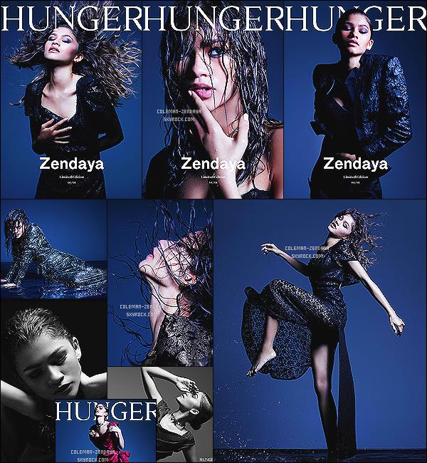 _ ●● PHOTOSHOP :   Zendaya Coleman a réalisé un photoshoot, pour Hunger Magazine . -