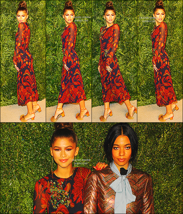 _ 02/11/2015 : Notre star, Zendaya C. s'est rendue au 12th annual CFDA/Vogue Fashion Fund Awards à New York.