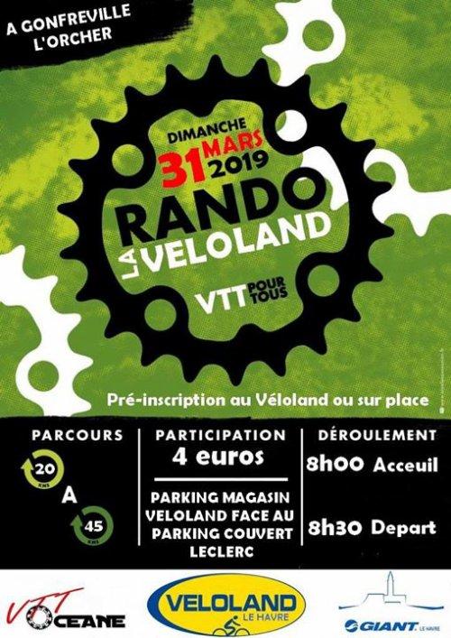 dimanche 31 mars 2019  La Véloland