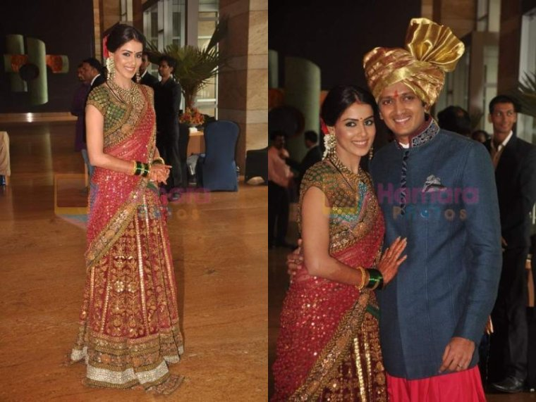 Genelia & Ritesh @  Riteish's Brother's Mariage & Reception