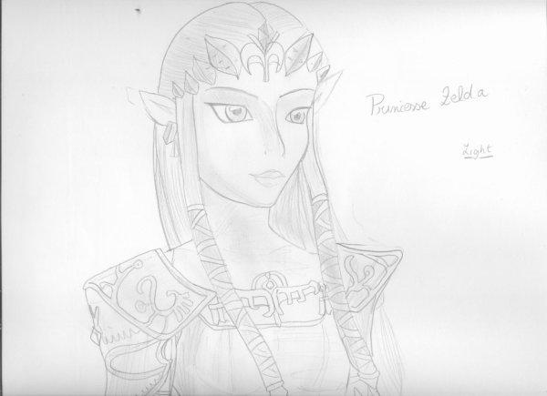 Un dessin de Zelda fait par lafandezeldadu69 !