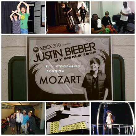 Actualité -->  ------------------------------------------------- # Photo Backstage du My World Tour #