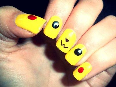 1 - Comment faire les ongles en pikachu ?