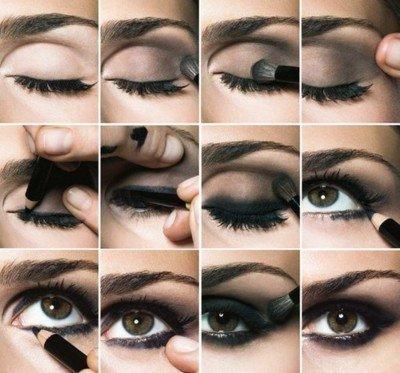 Tuto Maquillage.  Maquiller des yeux marrons foncés.