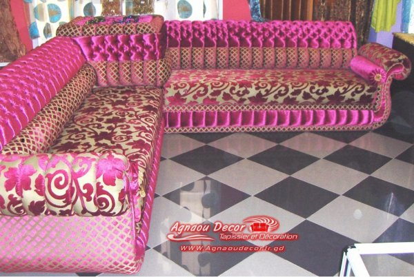salon marocain Tapissier S14