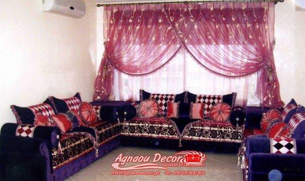 salon marocain Tapissier S15