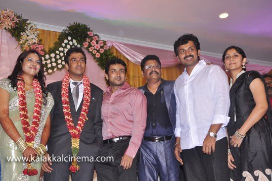 Surya & Karthi @ KS Ravikumar Daughter Wedding Reception