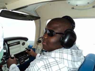 Moi au commande d'un n'avion
