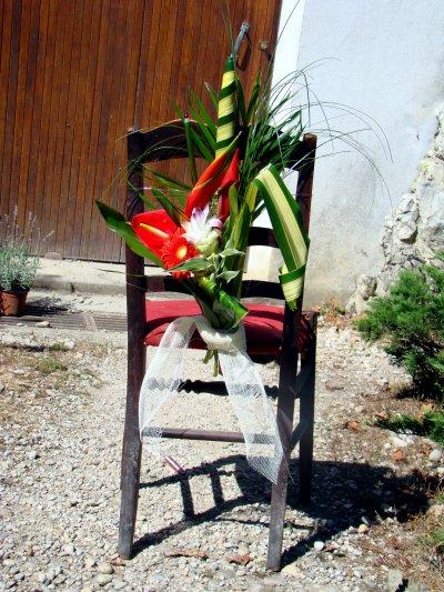 Bouquet de chaise, pour les chaises des mariés à l'église: