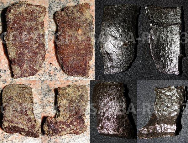Restaurations de mes objets de fouilles du 26/12