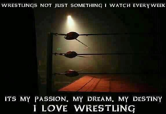 My only addiction, my religion, all my life ! :) Wrestling forever !