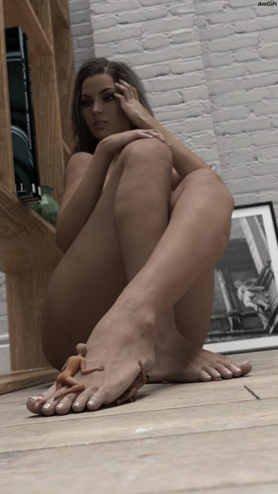 Sous les pieds