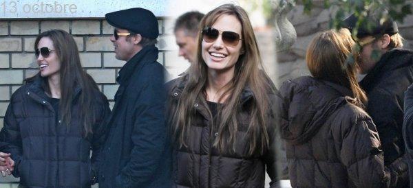« 13 et 14 Octobre 2010, Angelina et Brad sur le tournage du film que Angie produit.